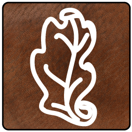 Morgan Leather Oak Leaf logo
